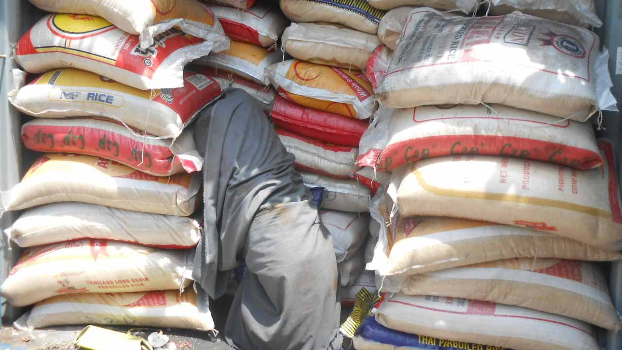 Customs strike force impounds 3,000 bags of smuggled rice