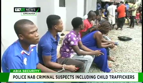 Police nab 30 criminal suspects, including child traffickers in Abia