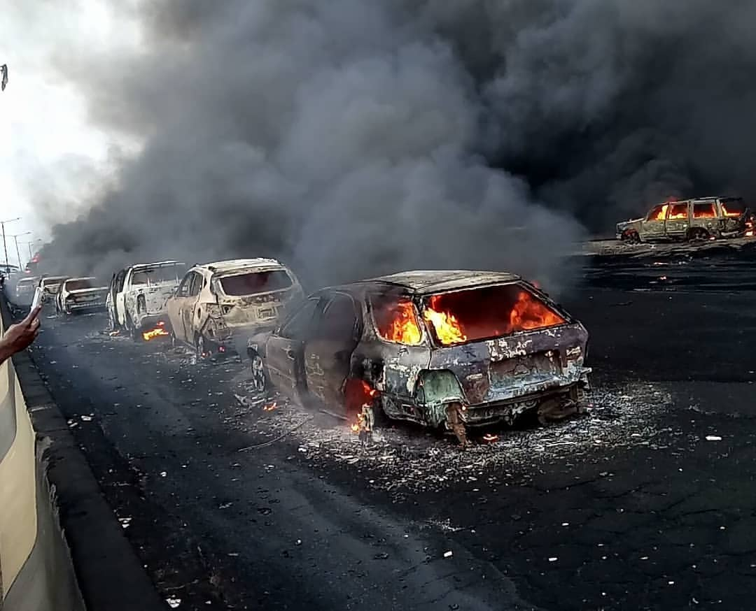 Tanker fire: Lagos announces preliminary findings, restricts tankers movement
