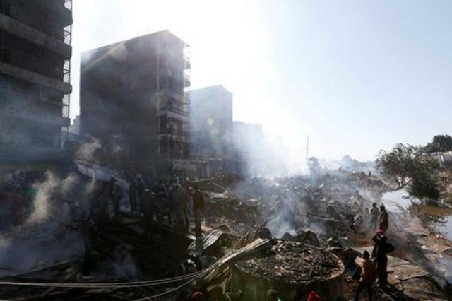 Fifteen dead in Nairobi market fire, 70 injured