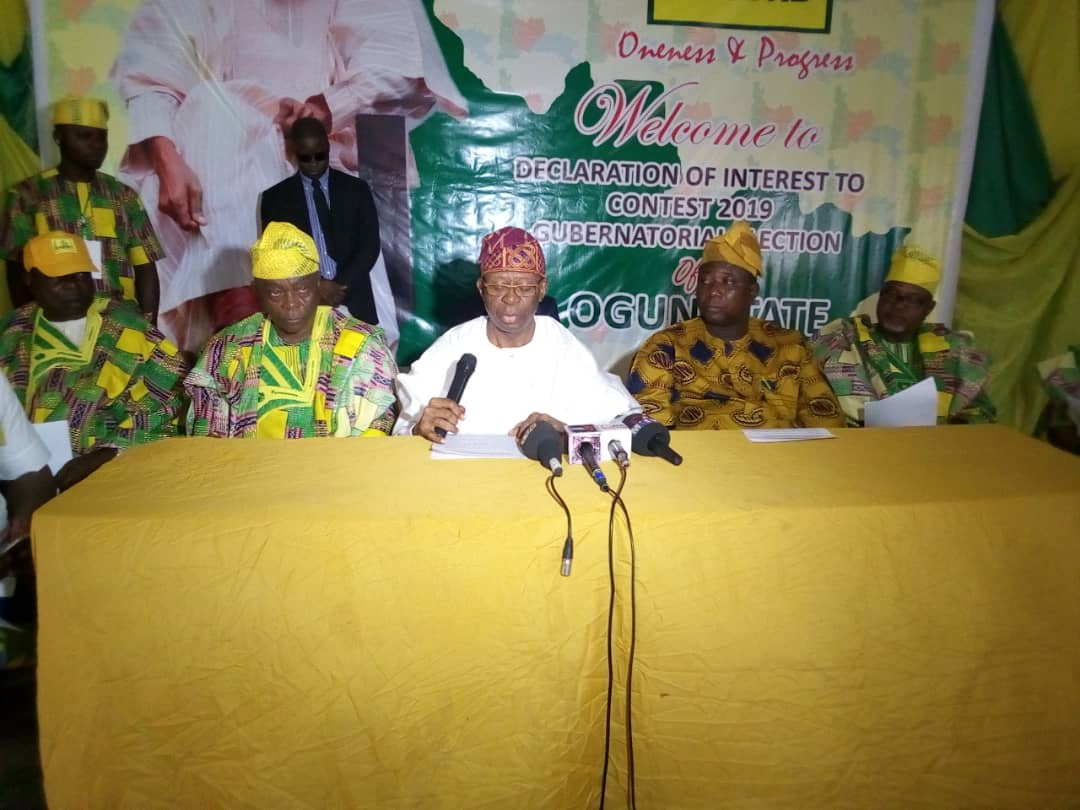 Ogun 2019: AP candidate promises all inclusive govt if elected