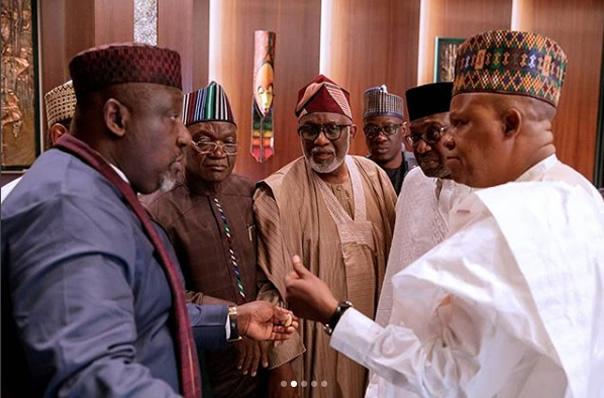 Buhari meets with APC governors