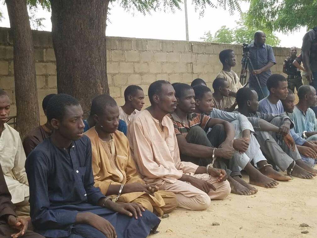 Police parade suspected abductors of Chibok Schoolgirls in Borno