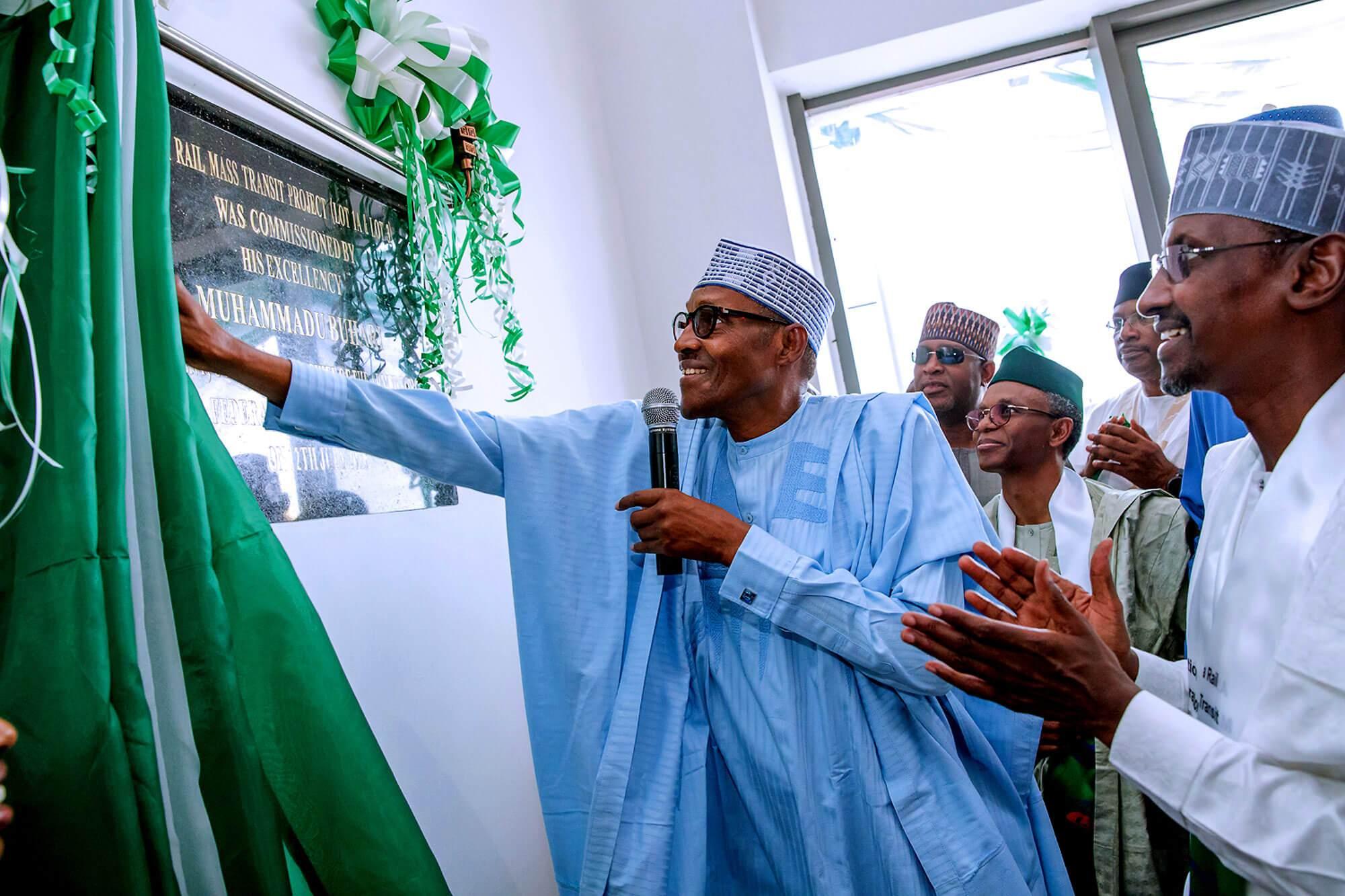 Buhari inaugurates light rail in Abuja