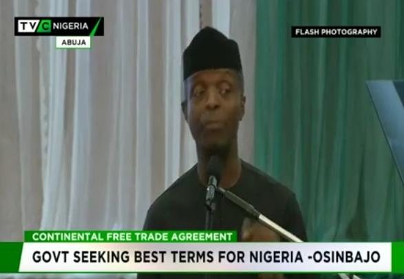 Nigeria seeking best terms from Africa Trade Agreement – Osinbajo
