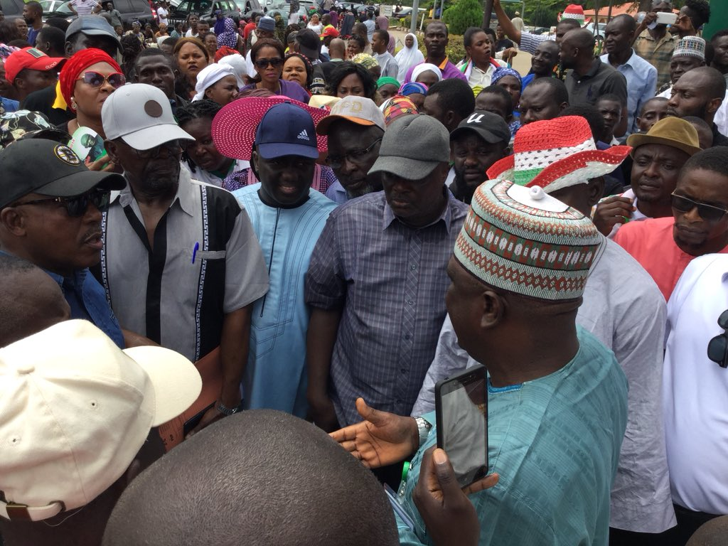 Ekiti election: Secondus leads protest to NASS over alleged police attack on Fayose