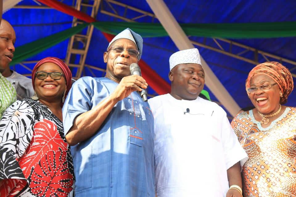 Obasanjo storms PDP rally in Ogun