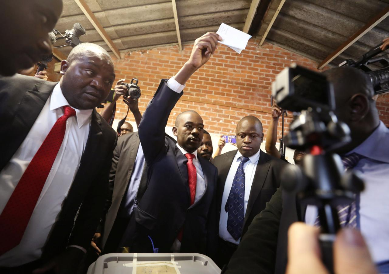Victory is certain, says Zimbabwe's opposition candidate, Chamisa