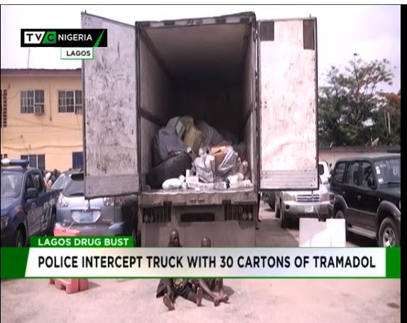 Lagos police intercepts truck filled with tramadol
