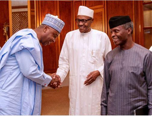 Buhari, Saraki meet inside Aso Villa
