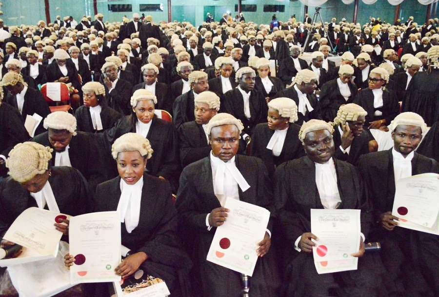 1550 candidates called to the Nigerian bar