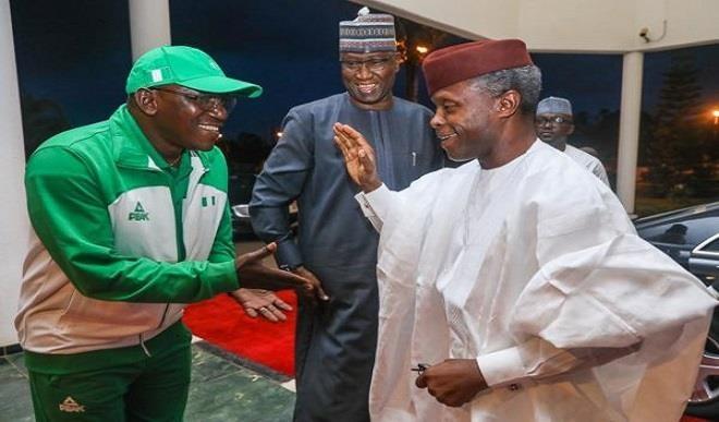 Osinbajo, Dalung in closed door meeting over FIFA threat