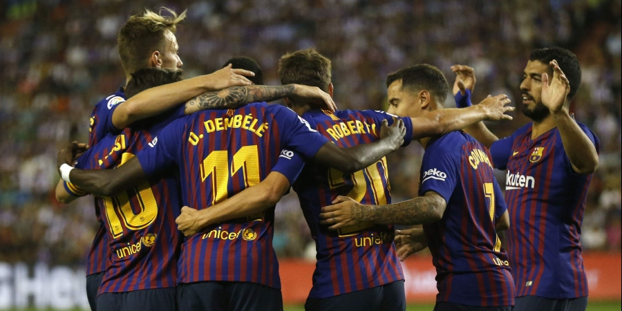 Dembele, Griezmann give Barcelona, Atletico narrow wins