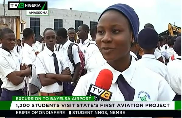 1,200 students visit Bayelsa's first aviation project