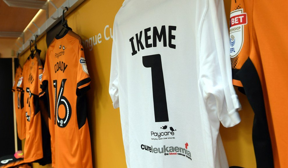 Wolves retire number 1 shirt in honour of Ikeme