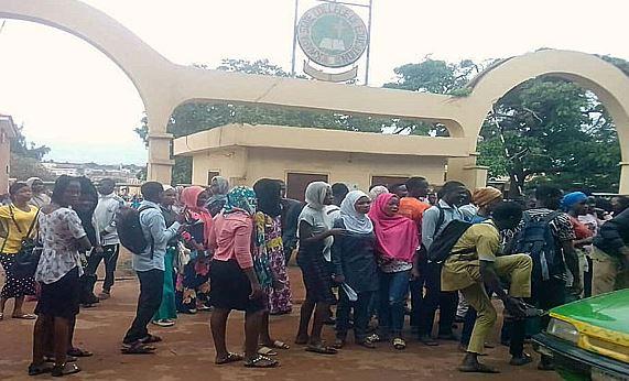 Kwara College students protest examination postponement