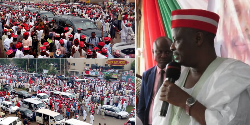 10,000 PDP members defect to APC as Kwankwaso declares for Presidency