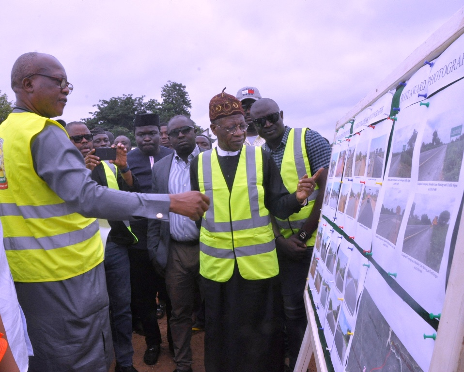 Lai Mohammed inspects Ilorin-Jebba road