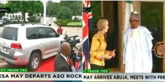 British PM, Theresa May meets Buhari in Abuja, departs for Lagos