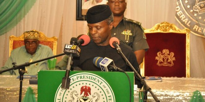 Lack of investment in infrastructure poses big problem to Nigeria – Osinbajo