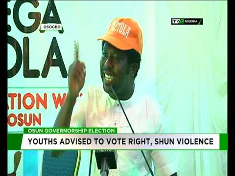 Osun 2018: Youths advised to vote right, shun violence