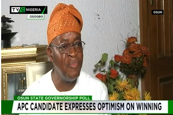 Oyetola expresses optimism about winning Osun Gov race