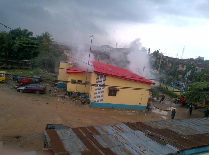 Irate youths burn down police station over alleged killing by SARS