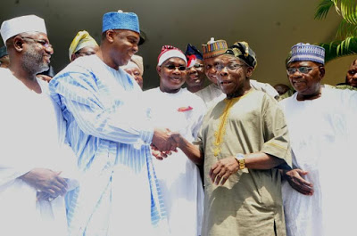 Saraki meets Obasanjo behind closed door in Abeokuta