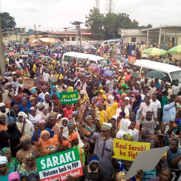 Youths hold rally in support of Saraki in Ilorin