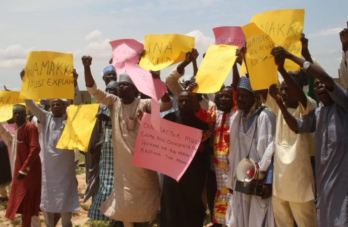 2010 Sokoto flood victims protest non-completion of resettlement houses