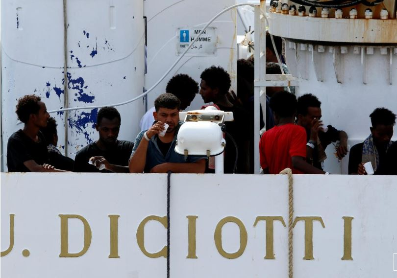 Italy clashes with EU over migrants stranded on rescue boat