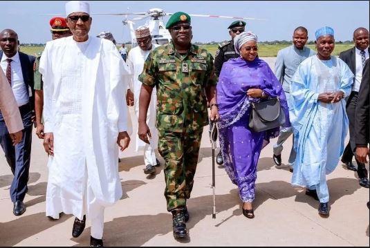 President Buhari arrives Abuja after Sallah