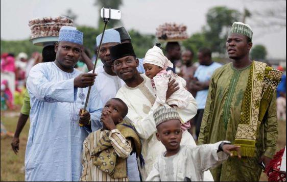Muslims faithfuls celebrate sallah