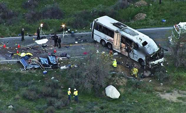 At least 10 killed in South Africa bus crash