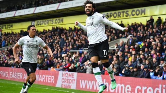 Salah sets up 2 goals as Liverpool beats Crystal Palace