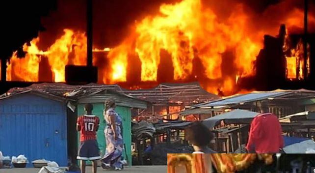 Fire destroys Baga fish market