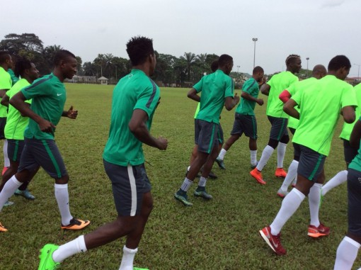 Super Eagles begin training with foot-volley against 2019 AFCON Qualifier