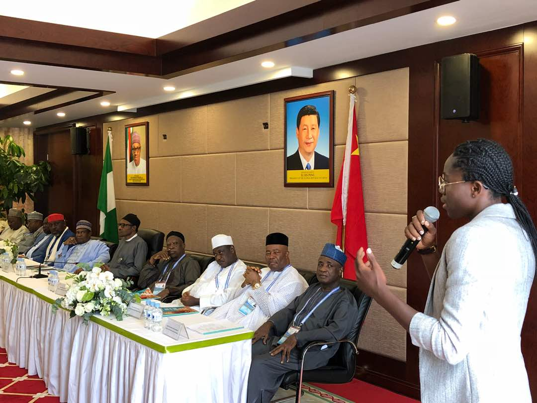Asisat Oshoala meets Buhari in China, lauds Ambode on good governance