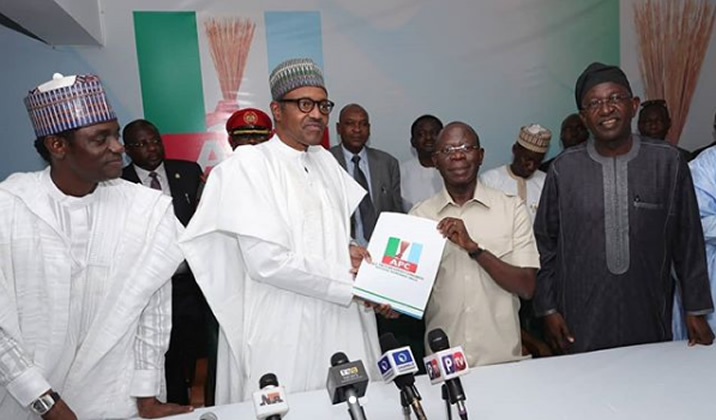 Buhari submits presidential nomination form