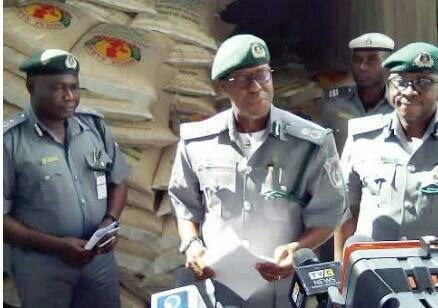Customs strike force display confiscated contraband
