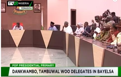 Dankwambo, Tambuwal woo delegates in Bayelsa
