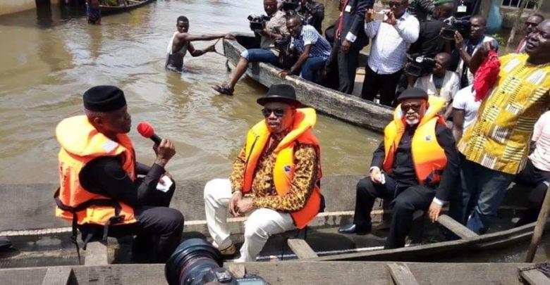 Osinbajo visits flood-ravaged communities in Anambra