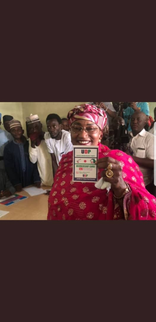 Aishat Alhassan defect to UDP with members of APC working committee