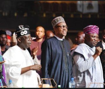Buhari wades into Tinubu, Ambode's rift