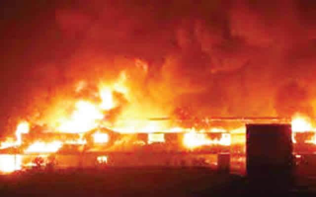 Ondo inferno: paint production factory razed by fire