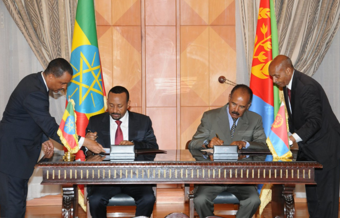 Ethiopia and Eritrea sign 'historic' peace treaty in Saudi Arabia