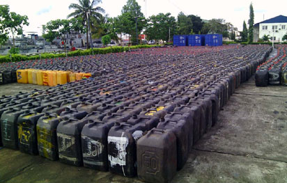Customs impounds millions of smuggled litres of fuel