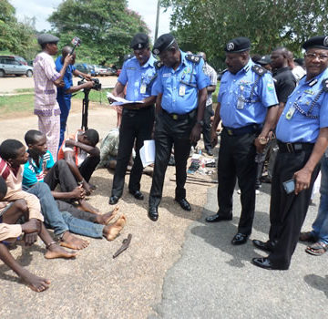 Eleven suspects paraded by police in Ekiti State for various offenses