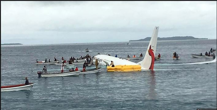 Miraculous escape as plane crash lands in the ocean in Micronesia