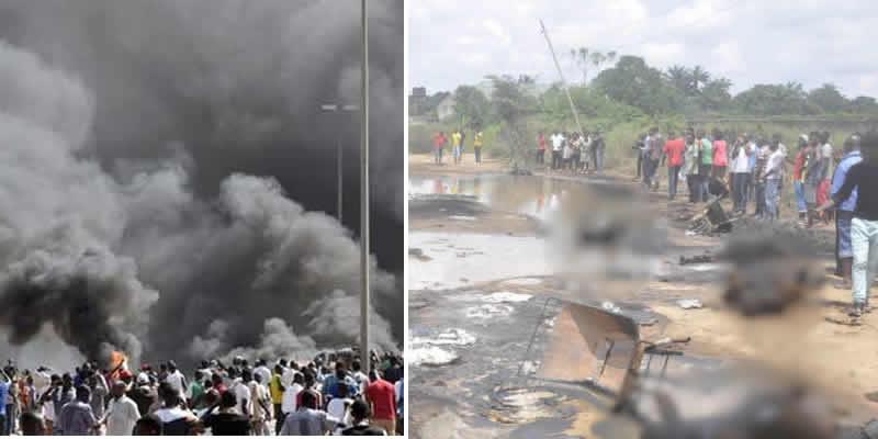Senate delegation visits Abia pipeline explosion site, checks facility